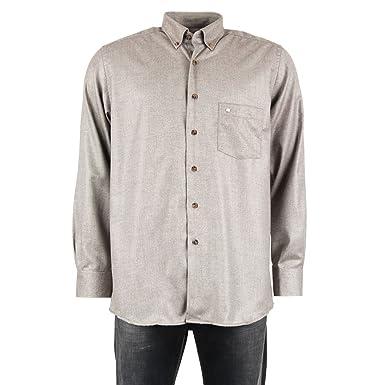 Pierre Cardin-Camisa para hombre, color gris marrón T5: Amazon.es ...