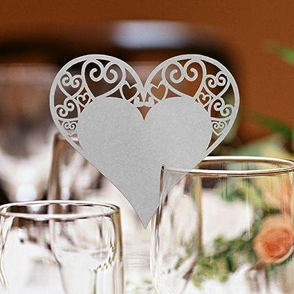 Amazon Com Cloudga 50 Pcs Diy Craft Party Decor Wedding Heart Shape