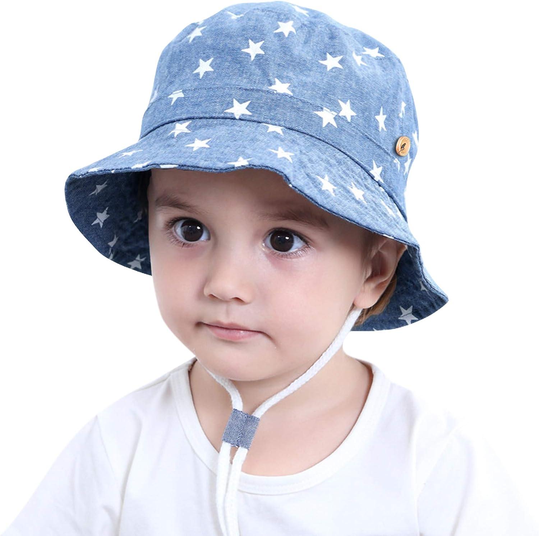 Bebé Niños Sombrero de Sol Algodón Sombrero de Playa Verano ...