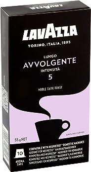 Cápsulas de Café Lungo Avvolgente Lavazza, Compatível com Nespresso, Contém 10 Cápsulas