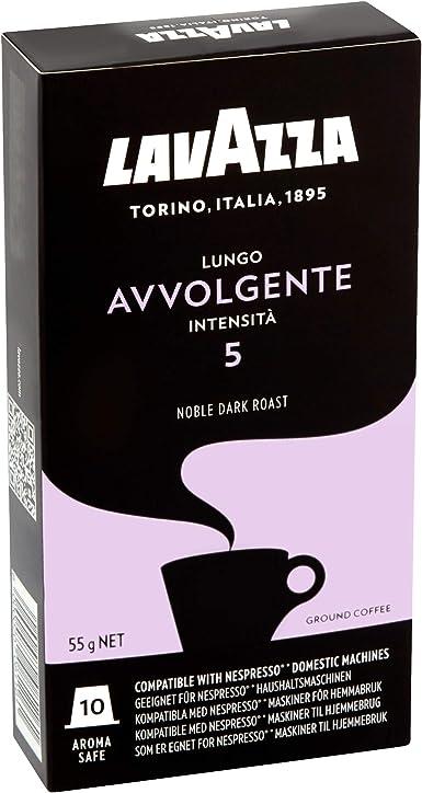 Lavazza Avvolgente Lungo, Cápsulas de Café, Compatible con las Cafeteras de Cápsulas Nespresso, 10 Cápsulas de Café: Amazon.es: Alimentación y bebidas
