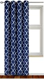 Amazon Price History for:Printed Blackout Room Darkening Grommet Curtain - Window Panel Drapes 1 Panel, 52 inches wide by 84 inches long (Navy) - Decorative Curtains by Utopia Bedding