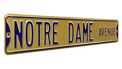 Amazon Com Notre Dame Ave Gold Ave Heavy Duty Metal Street