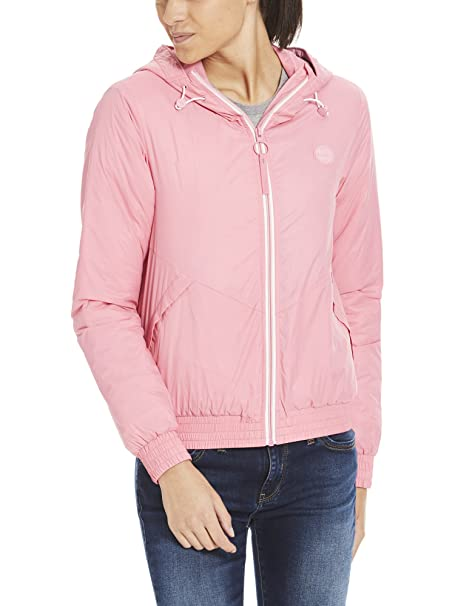 Pk052 Windbreaker Padded Femme Rose Blouson chateau Light Bench Small Oq4vRwx