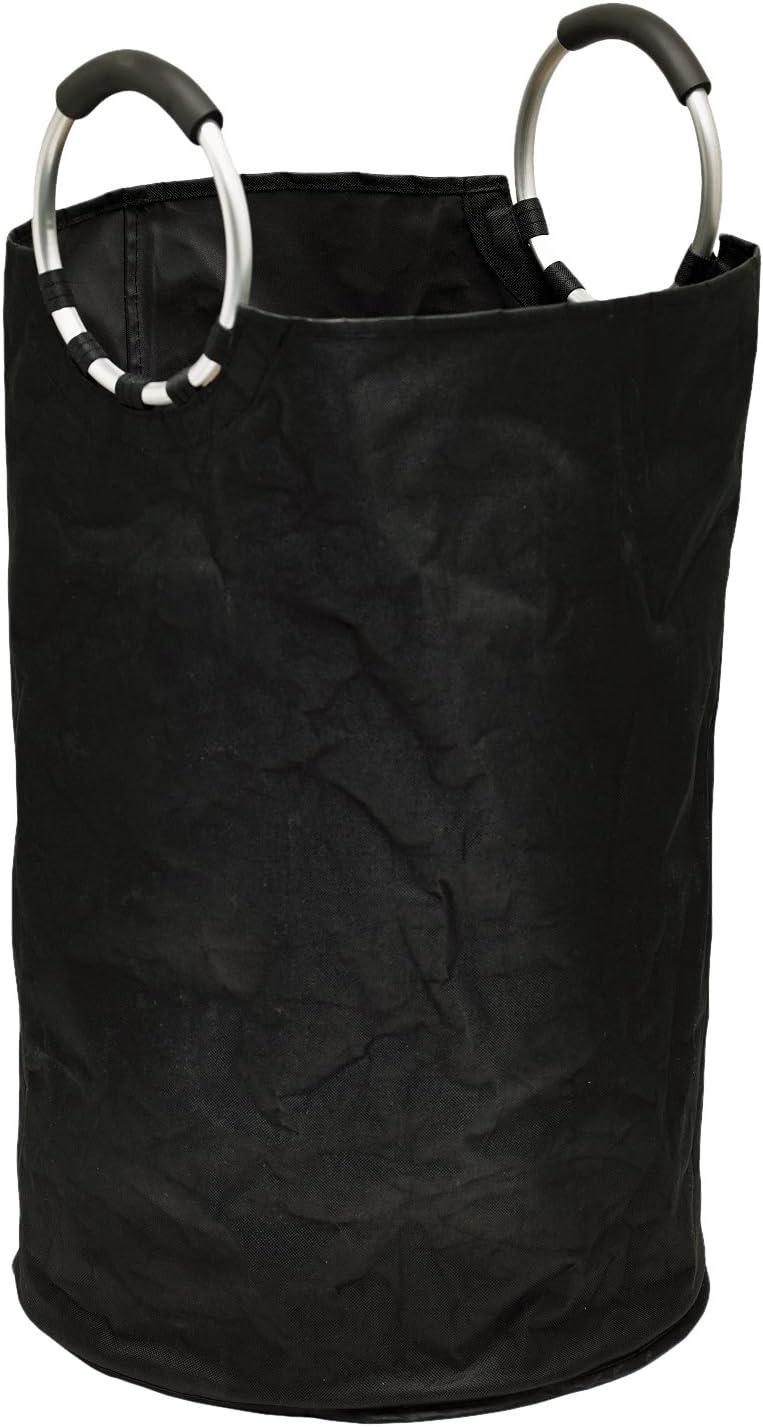 Moda at Home 304372 Fuxion Laundry Hamper, 15.75-Inch X 23.6-Inch, Black