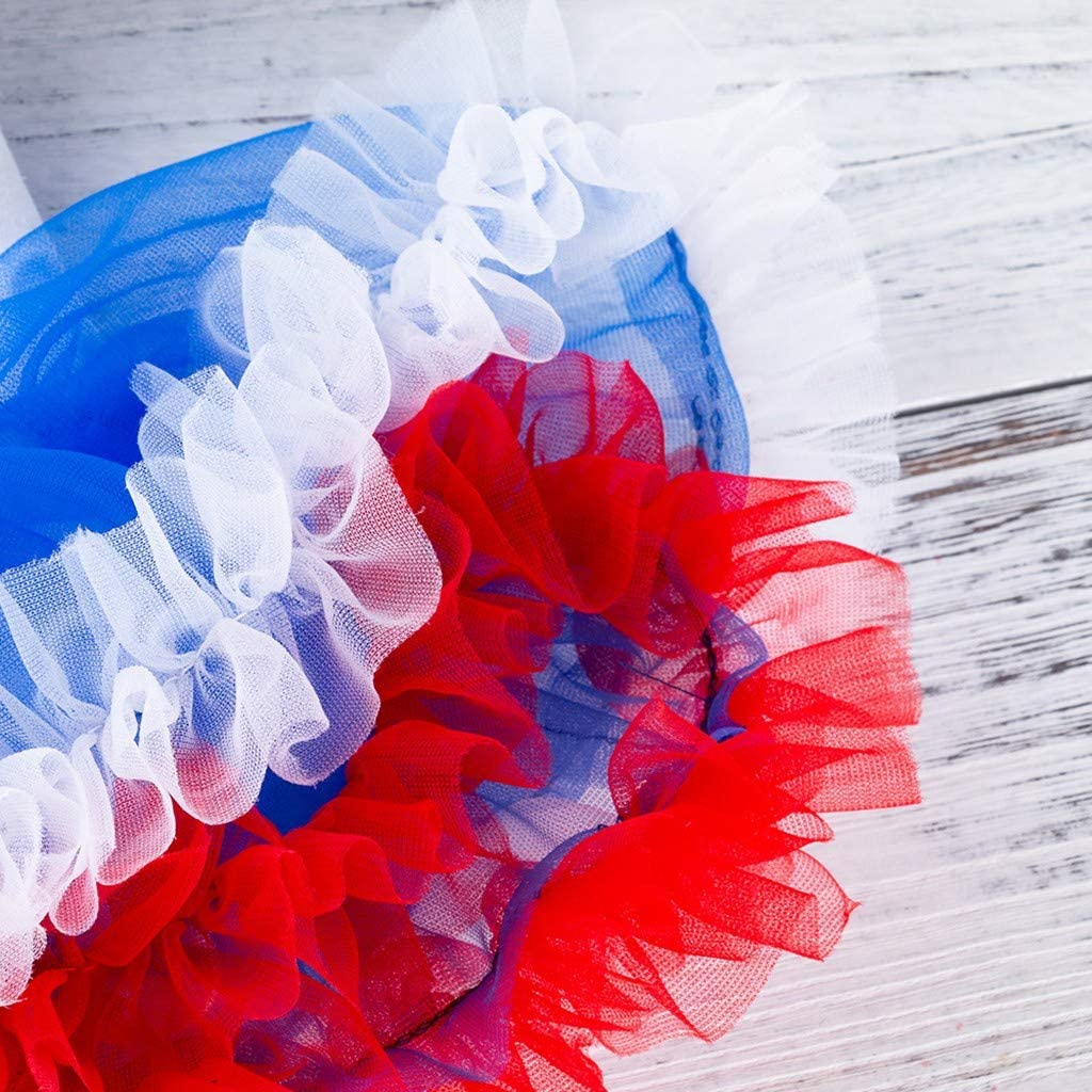 zitan 4th of July Baby Toddler Girl American Flag Romper Tutu Dress Headband Leg Shoes Clothes Outfits