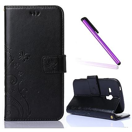 a141e3bee43 EMAXELERS Funda Samsung Galaxy S3 Mini Funda Premium PU Cuero Cartera para  Tarjetas y Cierre Magnetico