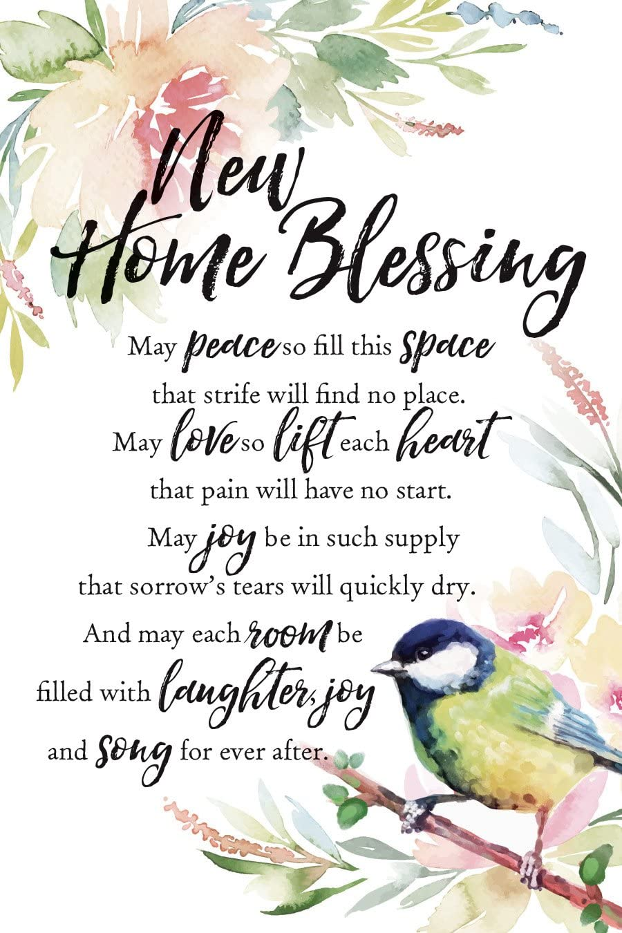 "Dexsa New Home Blessing Woodland Grace Series 6"" x 9"" Wood Plaque with Easel"