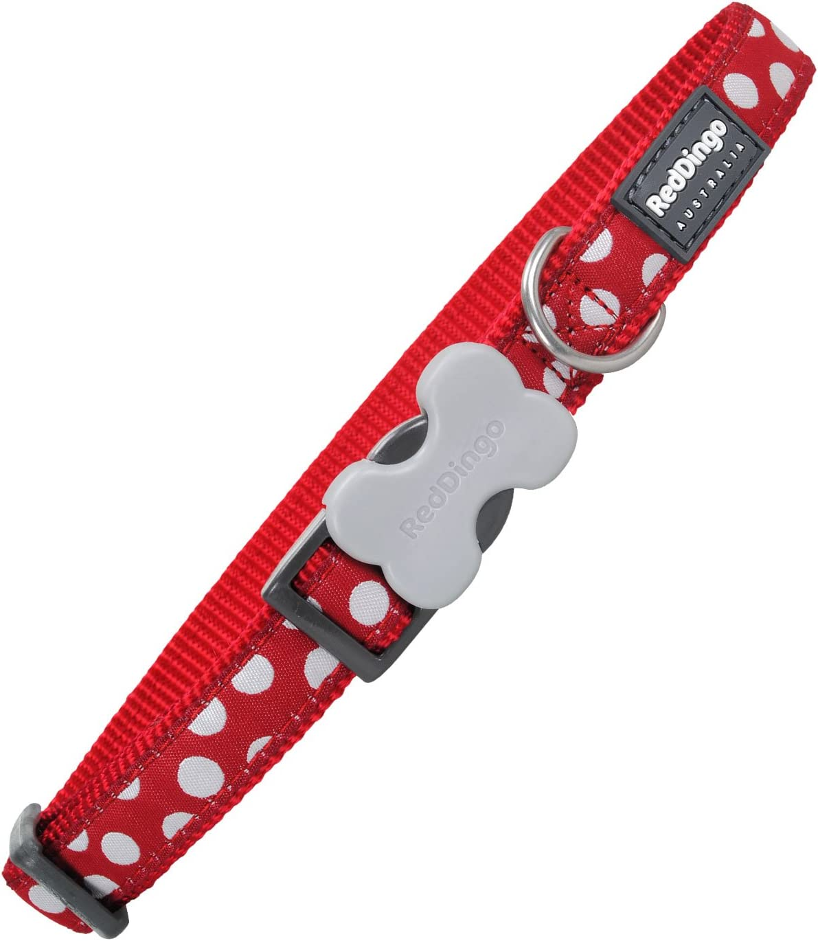 Red Dingo GmbH 9330725034358 Collar Perro Spots, S, Blanco