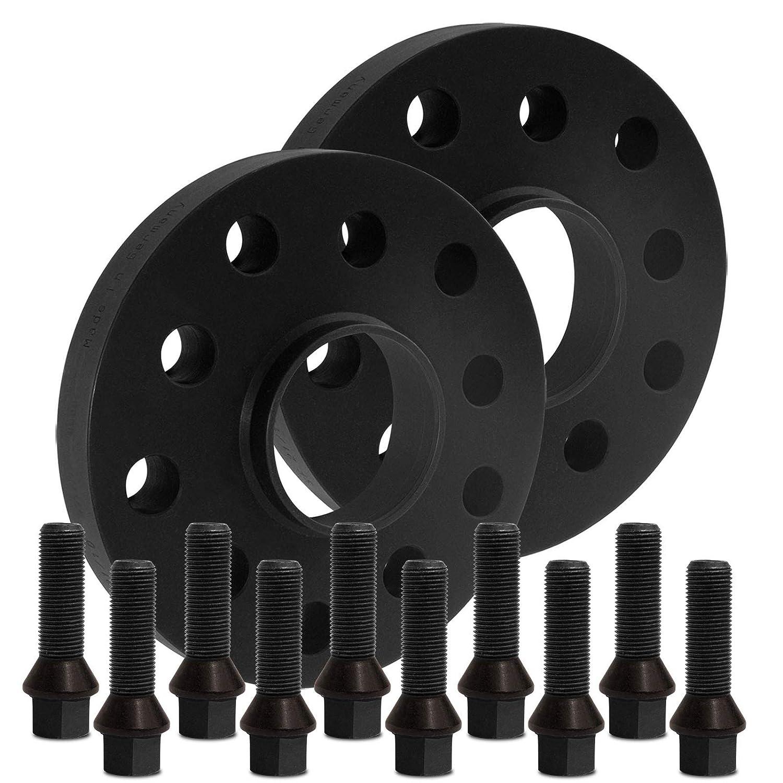 15mm mit Schrauben schwarz 5x120 72,6mm 12125W/_18/_M1425KE43W BlackLine Spurverbreiterung 30mm