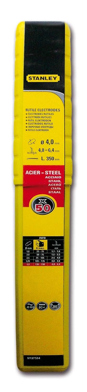 Stanley 460840 - Electrodos de acero (50 unidades, diá metro: 4 mm) diámetro: 4 mm) Stanley Black and Decker