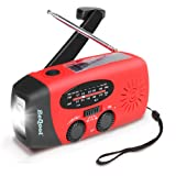 Dynamo LED Solar Radio, BEQOOL Upgrade Versions 5-in-1 multifunctional Emergency Radio Hand Crank Self Powered AM/FM/NOAA Weather Radio, 1W LED Flashlight, Weather Radio Built-in 1000mAh Power Bank, USB Charging Port and Micro Cables