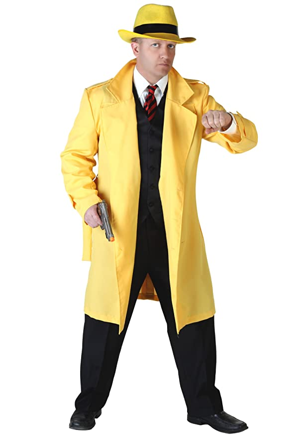 1930s Men's Costumes: Gangster, Clyde Barrow, Mummy, Dracula, Frankenstein Fun Costumes mens Yellow Jacket Detective Costume $49.99 AT vintagedancer.com