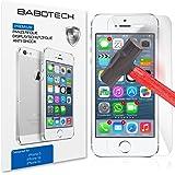 2 x Set BaboTech® Premium Panzerfolie Display Schutzfolie für Apple iPhone 5s 5c 5 Klar Extrem Shock-Absorbierend