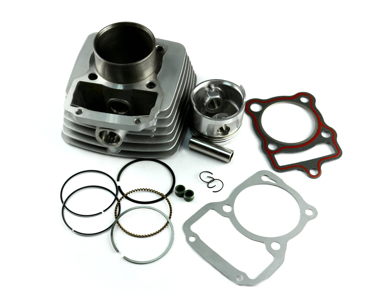Amazon.com: Cylinder Kit CG200 bore 63.5mm for Honda Engine 200cc ...