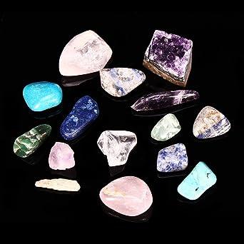 EsportsMJJ Piedra Natural Colección Caja Mix Gemas Cristales Minerales Especímenes Roca Decoración: Amazon.es: Industria, empresas y ciencia