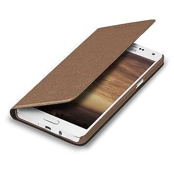 kwmobile Funda compatible con Samsung Galaxy A5 (2015) - Carcasa con tapa tipo libro - Case protector en cobre