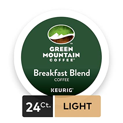 Green Mountain Coffee Breakfast Blend, Light Roast, K-Cup Portion Pack for Keurig Brewers 24-Count, (Package may vary) <span at amazon