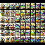100 PCS Pokemon TCG MEGA Flash Cards PikachuBall Holo Pokemon EX Card US SELLER