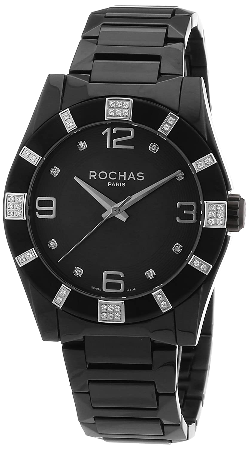 Rochas Herren-Armbanduhr XL Rochas De Luxe Men`s Collection 2012 Analog Quarz Edelstahl beschichtet