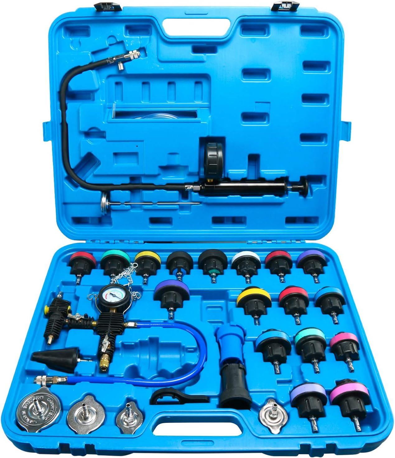 FreeTec Probador de Sistema de Enfriamiento Probador de Presión de Refrigeración Microesferas Del Tanque de Agua, 28 Piezas