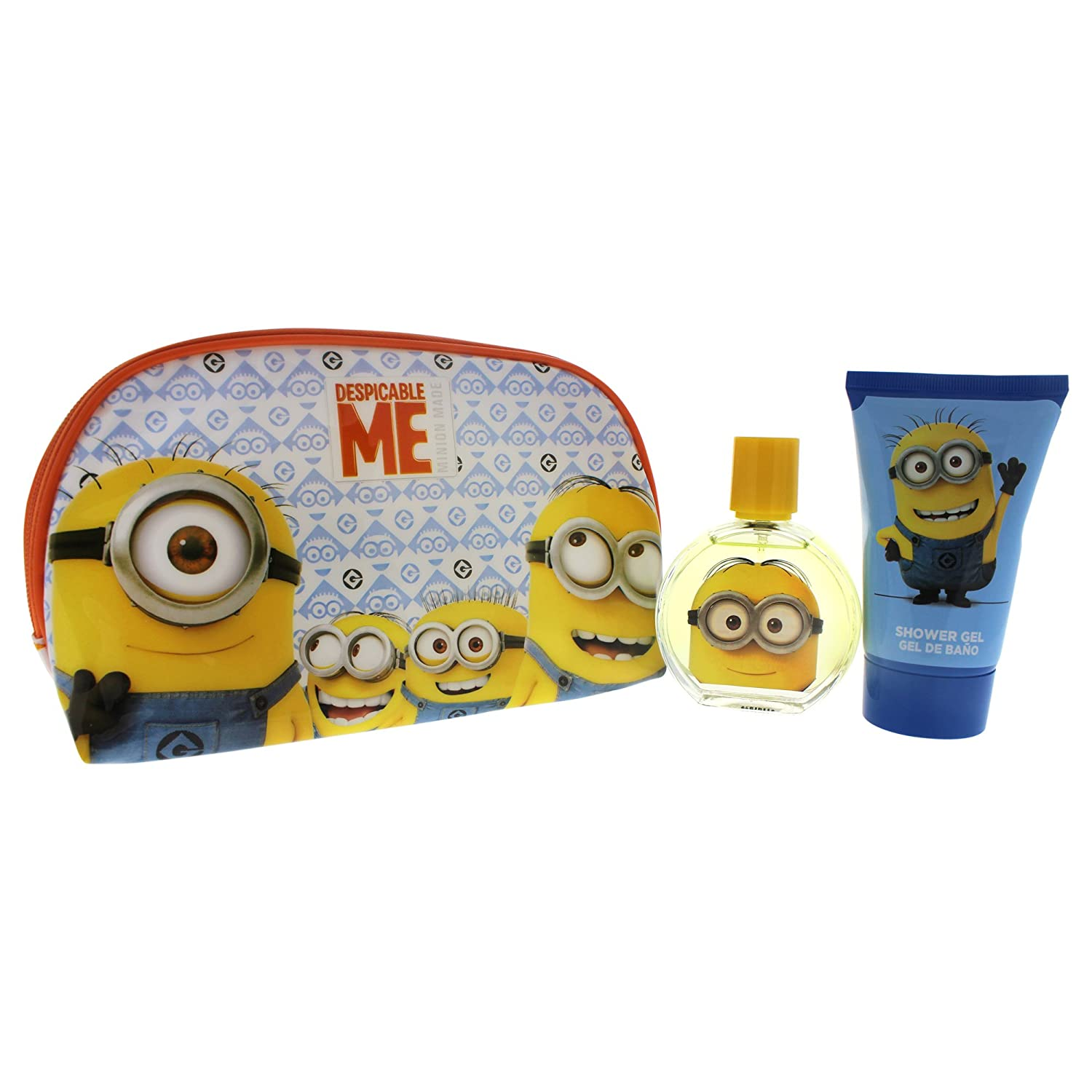 Minions for Kids 3 Piece Gift Set with Edt Spray, Shower Gel and Toiletry Bag 6021