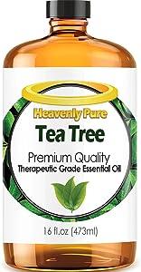 Tea Tree Essential Oil - Huge 16 OZ Bulk Size - 100% Pure Therapeutic Grade - Tea Tree Oil is Great for Aromatherapy, Acne, Hair Nourishment, Sinus & Allergies, & More!