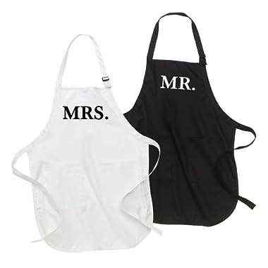 Classy Bride Mr. and Mrs. Apron Set