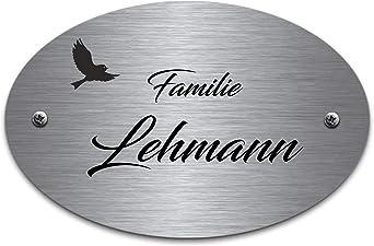 Türschild Messing 9,9 cm x  3,9 cm mit Wunschgravur Namensschild