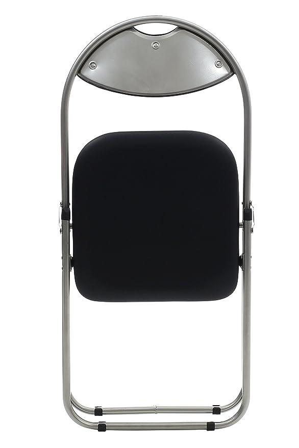 Premier Housewares - Silla plegable (79 x 45 x 47 cm, 1 unidad), color negro