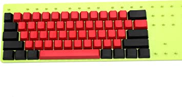 Axis Body : ANSI, Color : Top Print 61 Key Keyboard keycaps Mixed Red Black Thick PBT 104 87 61 ISO ANSI Layout Profile Keycaps for Mechanical Keyboard