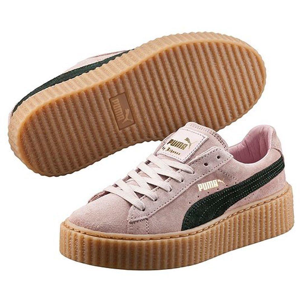 1953d7e22eb8 Puma Suede (Size UK 4.5) Fenty by Rihanna Creeper Sneakers - Coral Cloud  Pink - Ultramarine Green - Oatmeal  Amazon.co.uk  Shoes   Bags