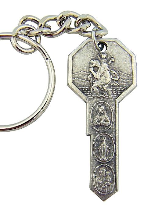 Keyring Llavero con diseño de San Cristóbal. St Christopher ...