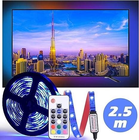 LED Tira De TV, Diyife 2.5M 75 Leds Multicolor RetroiluminacióN ...
