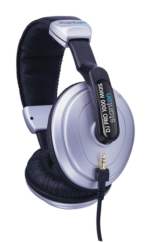 Stanton DJ Pro 1000 Mkii Headphone Blk and Silver DJ PRO 1000 MK II S Accessory Consumer Accessories
