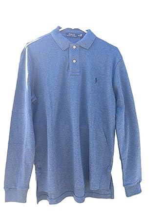 Polo Ralph Lauren Men\u0027s Interlock MED-FIT LS Polo Shirt Stripe at Amazon  Men\u0027s Clothing store: