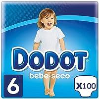 DODOT Bebé-Seco Pañales Talla 6, 100 Pañales, Pañal