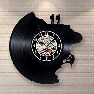 Climbing Decor Vinyl Record Clock Home Design Wall Art