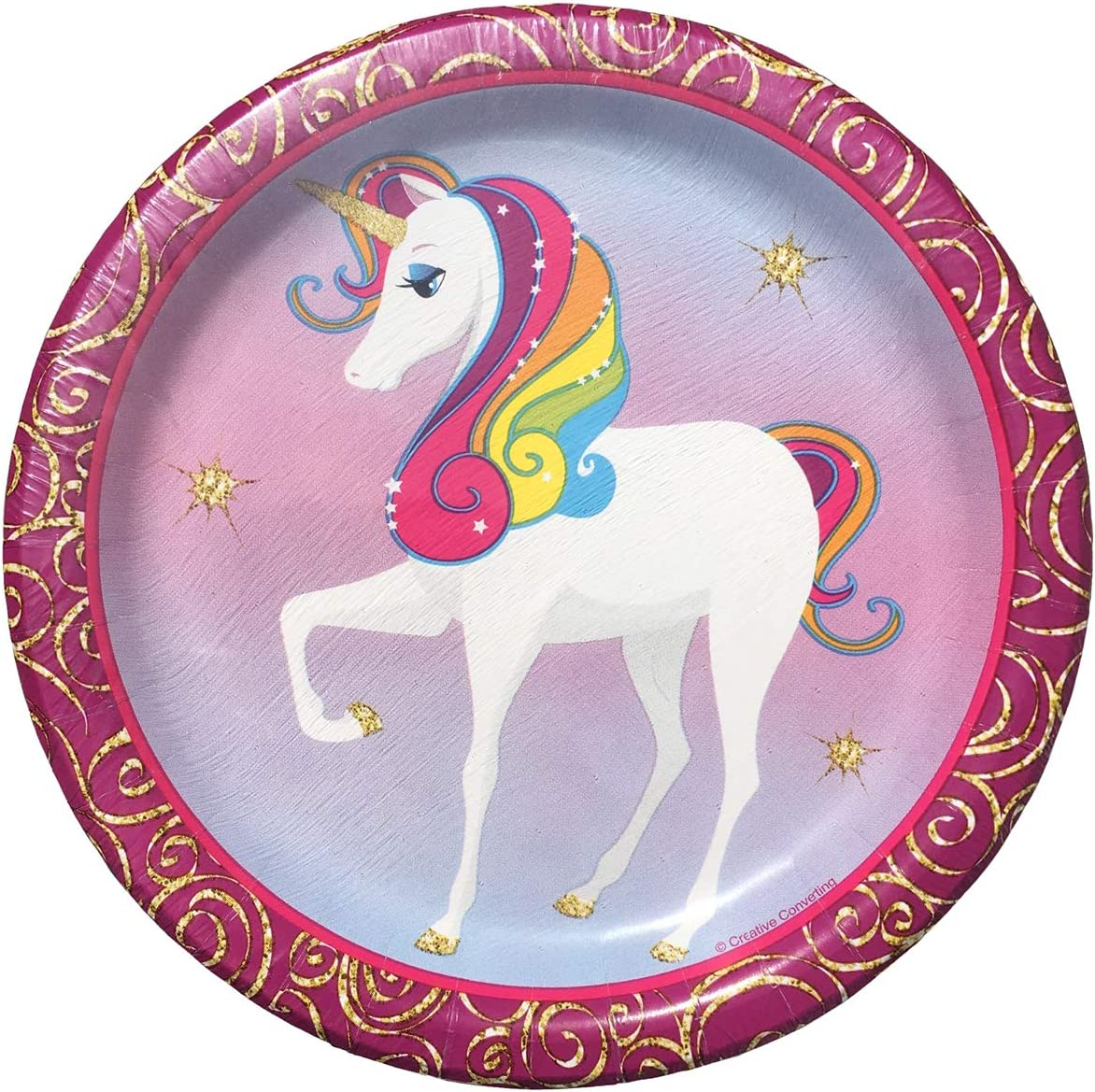 Unicorn Paper Plates for 20 Guests