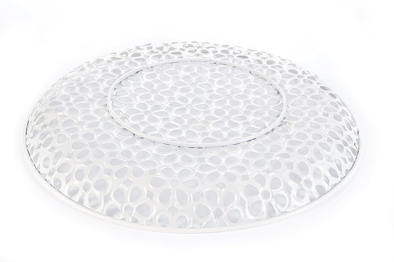 Teller aus Metall oval mit Ornamenten sch/öne Dekoration f/ür Haus und Wohnung Heitmann Deco Tischdeko