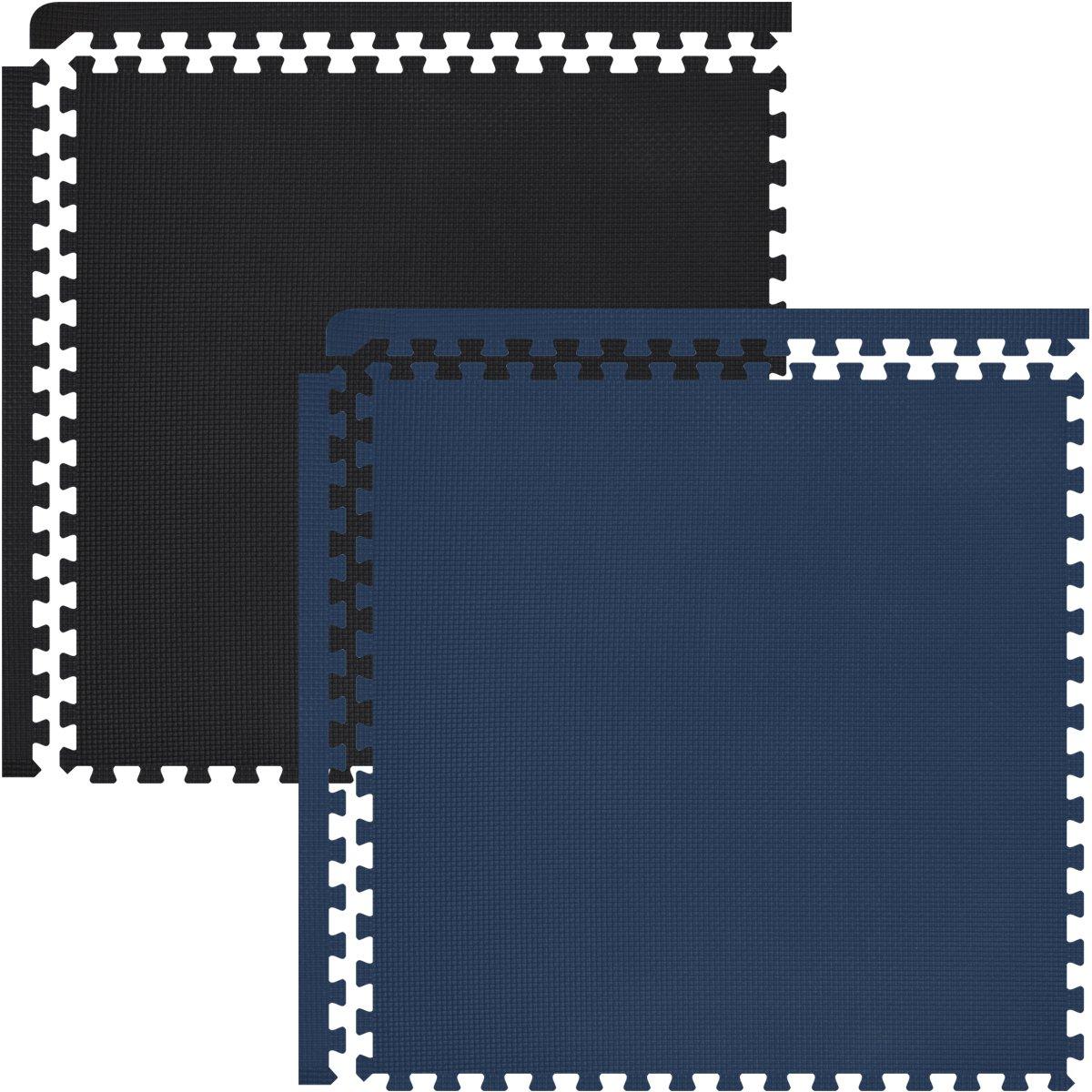 【高価値】 FIELDOOR/ トレーニング エクササイズ用ジョイントマット 防音 キズ防止 B01MU0IFUB【O】ブラック×ネイビー// B01MU0IFUB 1cm厚 48枚【O】ブラック×ネイビー/ 1cm厚 48枚, ママのほっぺ:35a40e2f --- arianechie.dominiotemporario.com