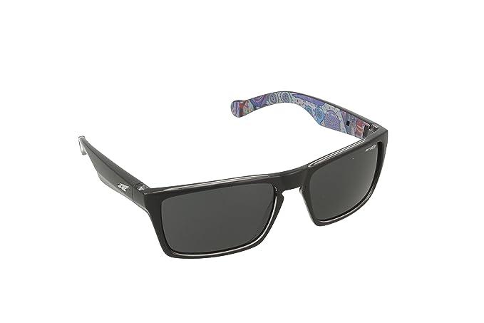 Arnette Specialist - Gafa de sol rectangular color negro con lentes color gris polar, 59