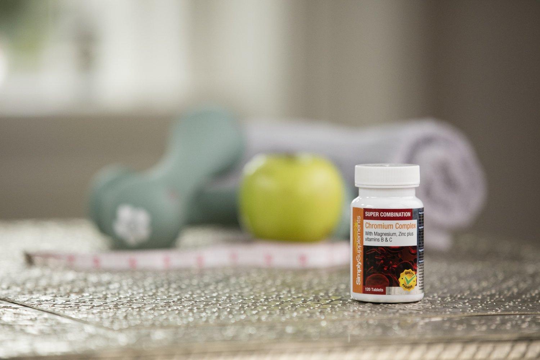 Cromo Complex - 120 Comprimidos - 4 meses de suministro - Con picolinato de cromo - - SimplySupplements: Amazon.es: Salud y cuidado personal