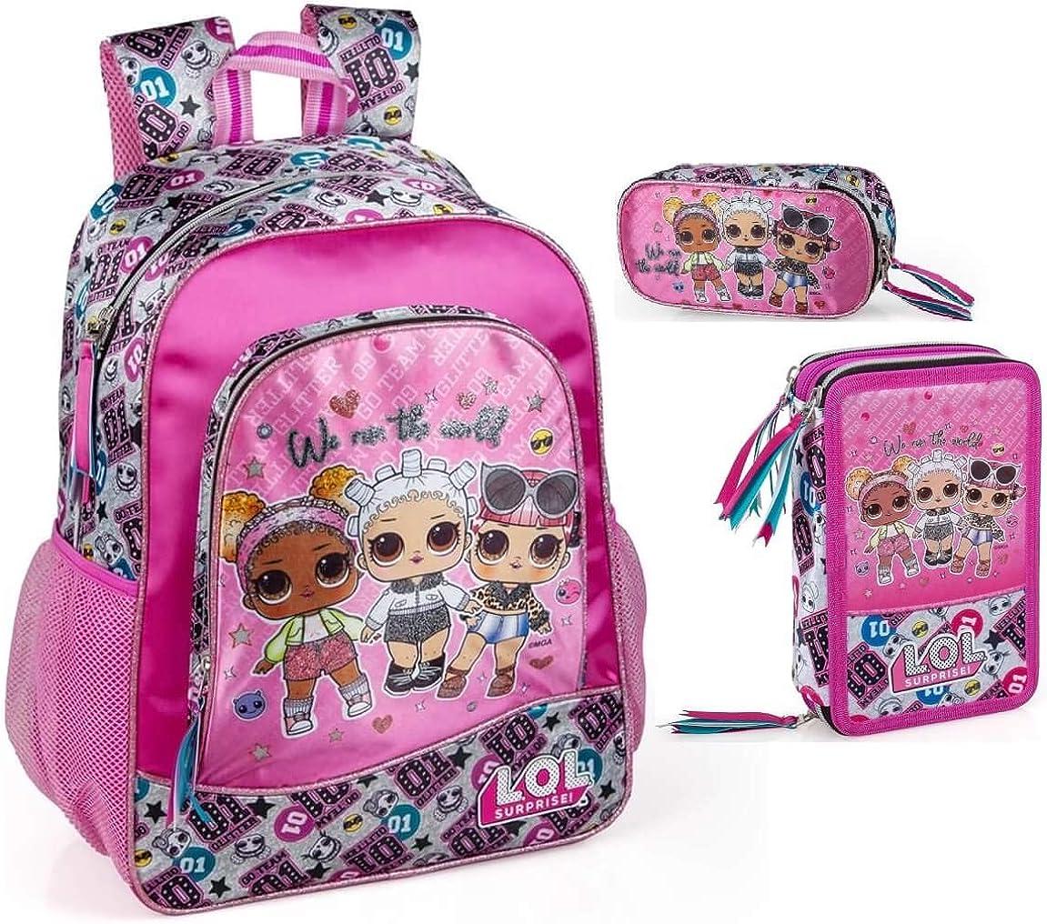 LOL Surprise - Mochila, estuche para lápices y estuche para niña Muñecas: Amazon.es: Ropa y accesorios