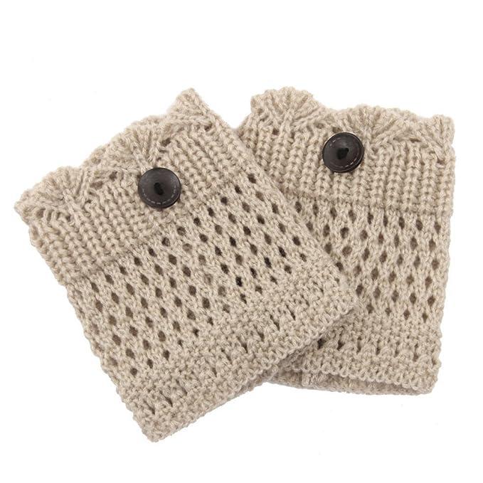 Gilroy Mujer Invierno Calentadores De Piernas Crochet Hollow Knit ...
