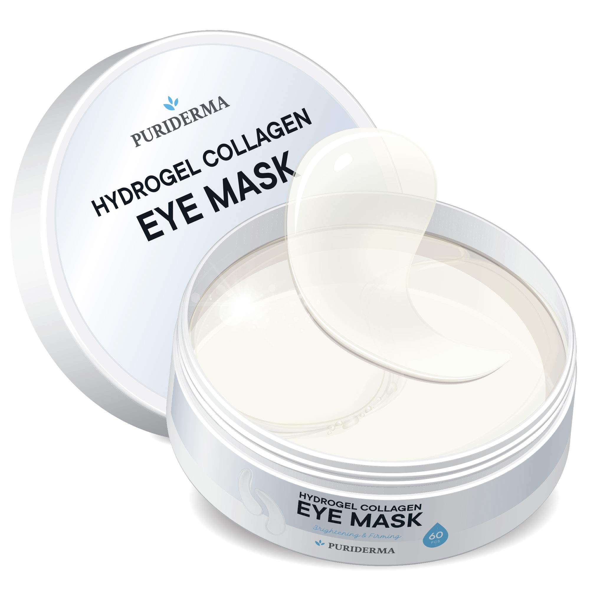 Hydrogel Collagen Eye Mask by Puriderma - Collagen Anti-Aging Under Eye Patches, Reduce Wrinkles, Fine Lines, Puffiness, Crow's Feet, Dark Circles by Puriderma
