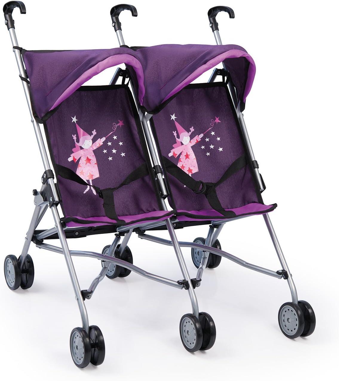 Bayer Chic Jogger Checker 2000/697/28 Color Lila Carrito gemelar para mu/ñecas