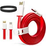 DMG USB Type C Cable, DMG 3.3ft/1M USB 2.0 Type C to USB-A Cable with Type C USB (Red)