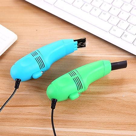 Limpieza Multifuncional con Cepillo y aspiradora Carga de USB, Herramienta para Limpiar Teclado de Ordenador, Mini Laptop Keyboard Cleaner Dust Brush Coche ...