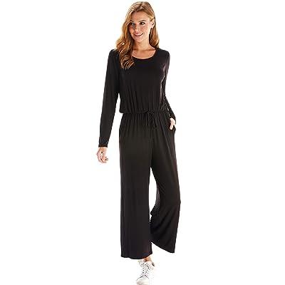Loving People Long Sleeve Loose Fit Jumpsuit: Clothing
